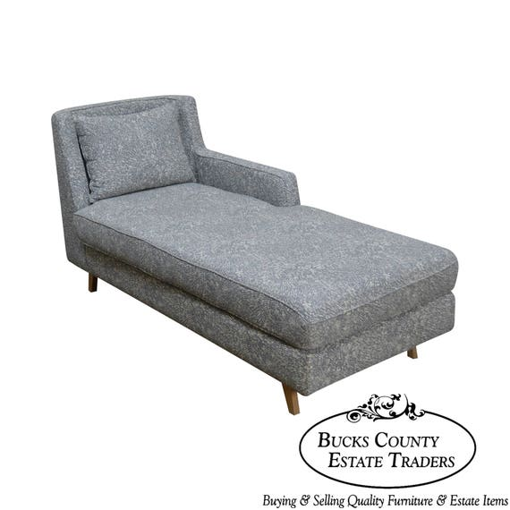 Peachy Wewood Custom Upholstered Crafted European Chaise Lounge Theyellowbook Wood Chair Design Ideas Theyellowbookinfo