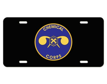 Chemical Corps Emblem Aluminum License Plate US Army Division
