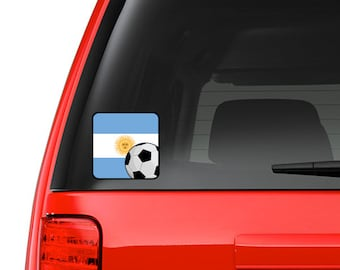 ARGENTINA ARGENTINEAN FLAG WORLD SOCCER Metal License Plate Frame Tag Holder