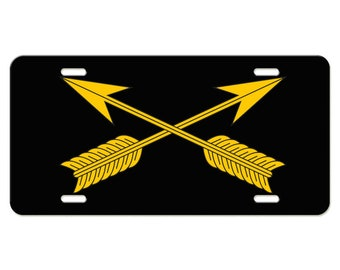 US Army Division Armor Branch Emblem Aluminum License Plate