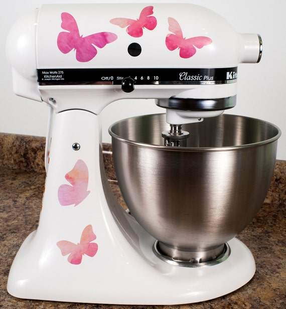 Pretty Pink Butterflies Kitchenaid Mixer Mixing Machine Decal Art Wrap