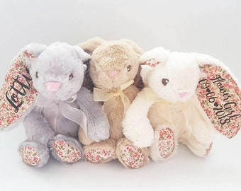 Flower Girl Gift, Bridesmaid Proposal, Wedding Favors,  Flower Girl Proposal, Bridesmaid Gift, Personalised Bunny, Christmas Gifts