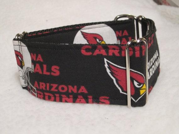 san francisco 6bf1e fefe9 Arizona Cardinals, Martingale Collar, or Side Release Dog Collar, Big Red  Dog Collar, White/Red/Gold/Black
