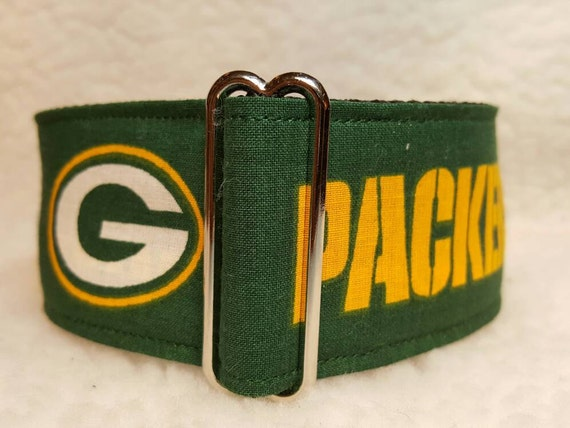 Green Bay Packers Dog Collar Martingale w// leash set option buckle