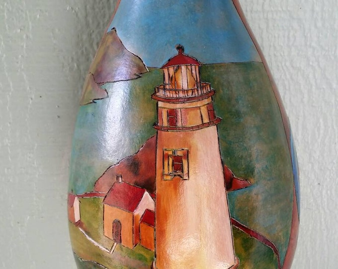Featured listing image: Thunder gourd with our Heceta lighthouse in Oregon...nice thunder rumble.
