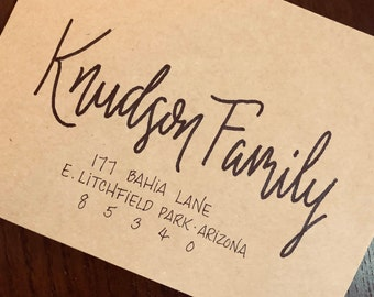 Handwritten Calligraphy Envelopes - Custom Addresses, Made to Order - For Wedding Invitations, Parties, Events