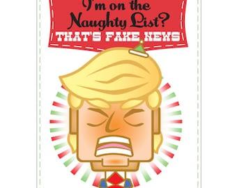 Set of 10 Funny, Cool Christmas Cards - Trump Naughty List