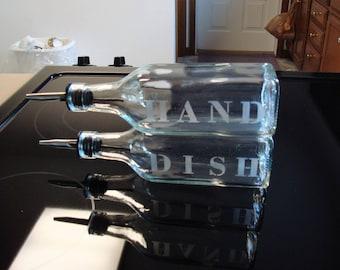 Set Of 2 /  Hand & Dish Soap Dispensers