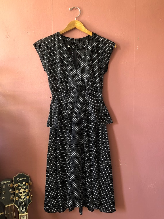 Dita Dress- 40s style polka dot dress