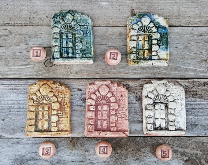 Handmade Irish Fairy door, you can paint your own, turn a tree into a castle diorama or wizard tower Celtic inspired, hand made in Ireland