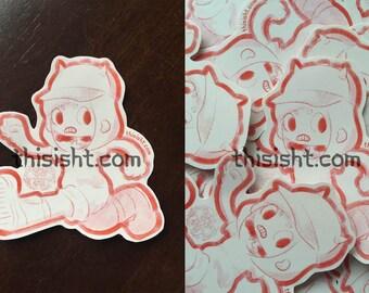 Bunneh Girl sticker