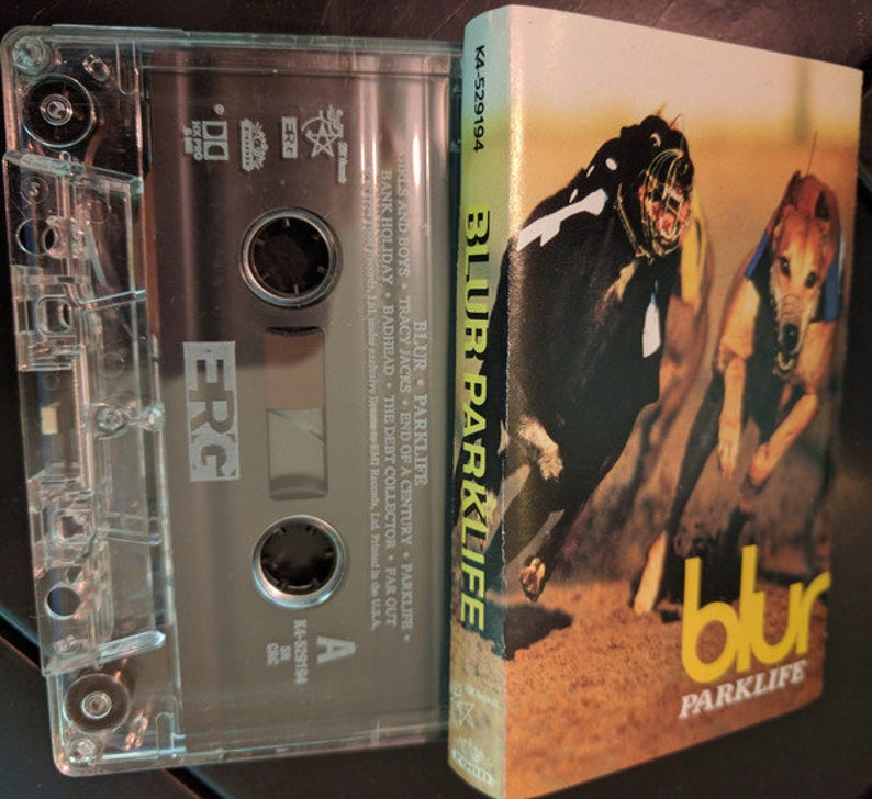 Blur Parklife Audio Cassette Damon Albarn 1994 Britpop Food Records