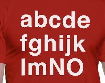 NO Alphabet T-Shirt