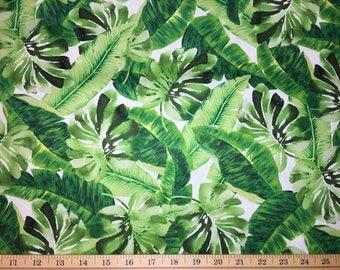 dd8c88156d57 Green Leaf Fabric Tropical Jungle Hawaiian Palm Tree Leaf Fabric Palm Tree  Leaves Foliage Tropical Print Cotton Fabric By the Yard HY a4 25