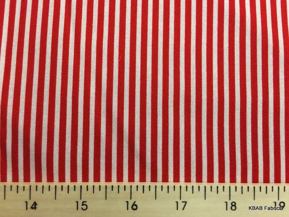 Red White Small Nautical Striped Fabric Christmas Candy Etsy