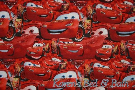 Lightning McQueen Fabric fabric by the yard Fat Quarter Quilting Fabric Disney Fabrics Cars Fabric Cotton fabric
