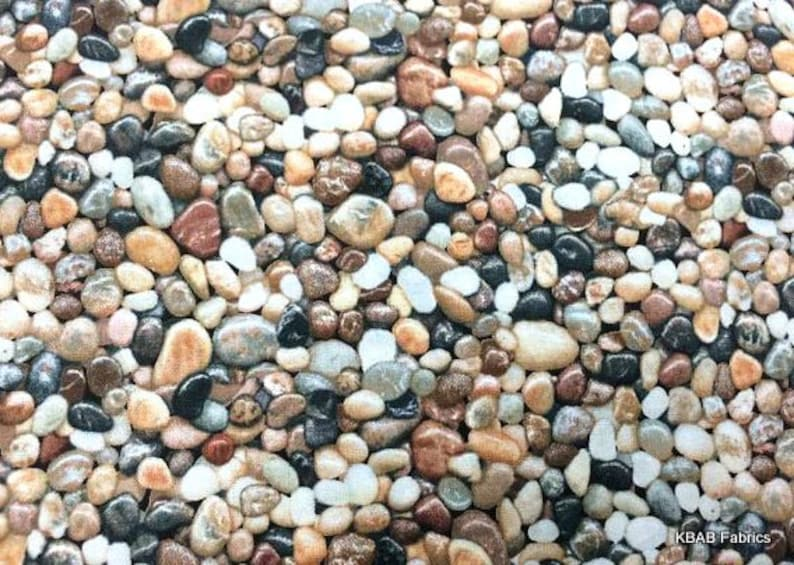Rocks Pebbles Gravel Fabric Rock Landscape Fabric Nauturescape | Etsy