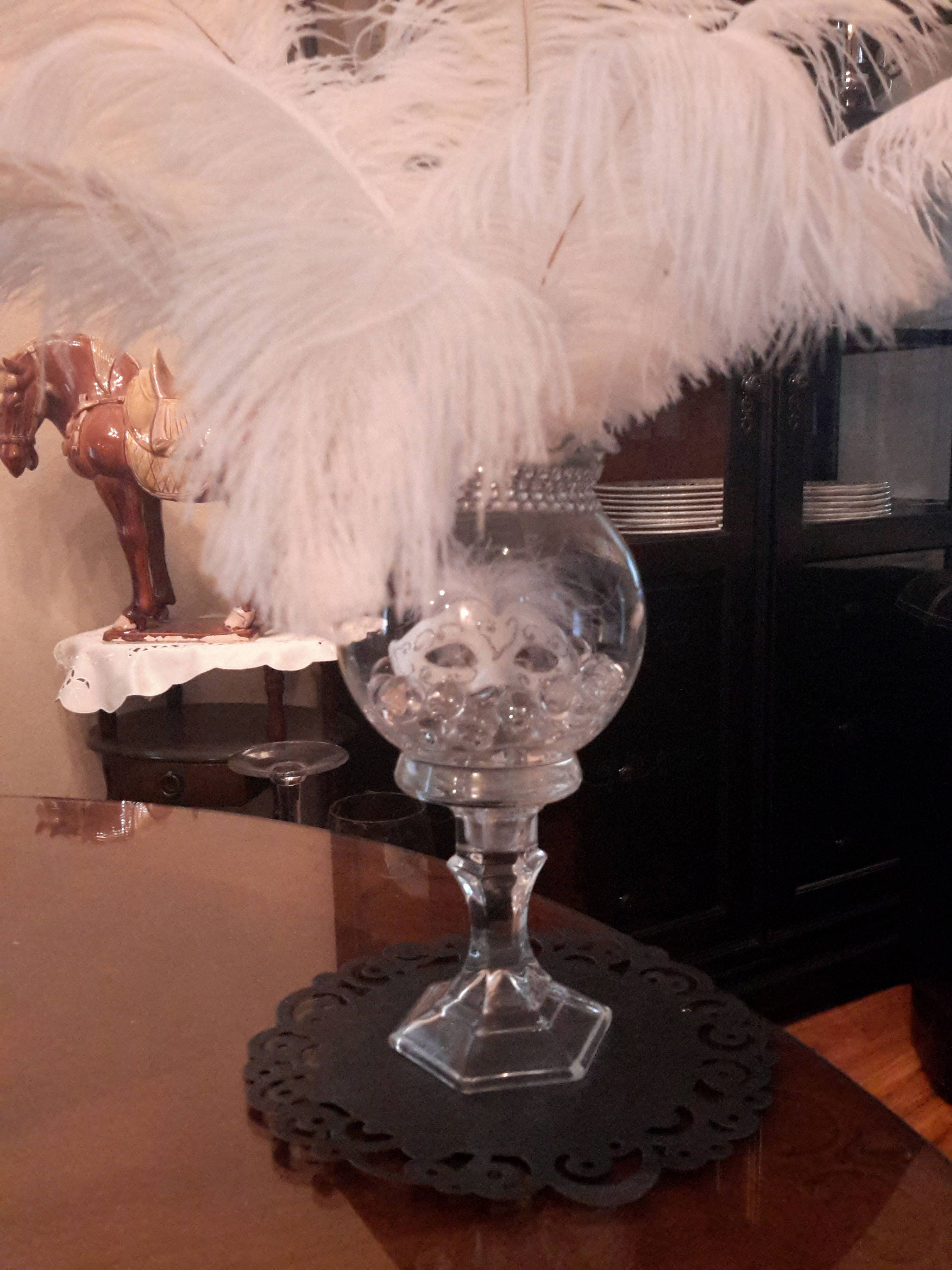 Masquerade Ostrich Feather Centerpiece-Ostrich Feathers | Etsy