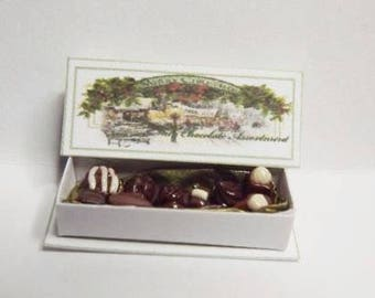 Dolls House Miniature Boxed Chocolates 1/12th Scale