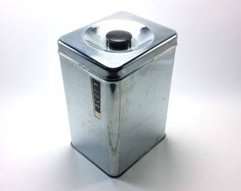 Flour Canister Chrome   Lincoln Beautyware   Retro Kitchen