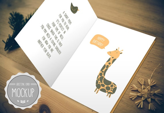 Greeting card mockup instant download photoshop psd etsy 50 m4hsunfo