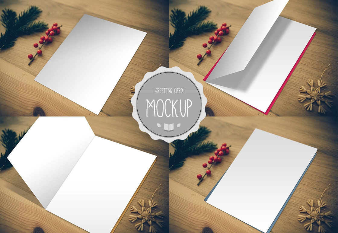 Greeting Card Mockup Instant Download Photoshop Psd Etsy
