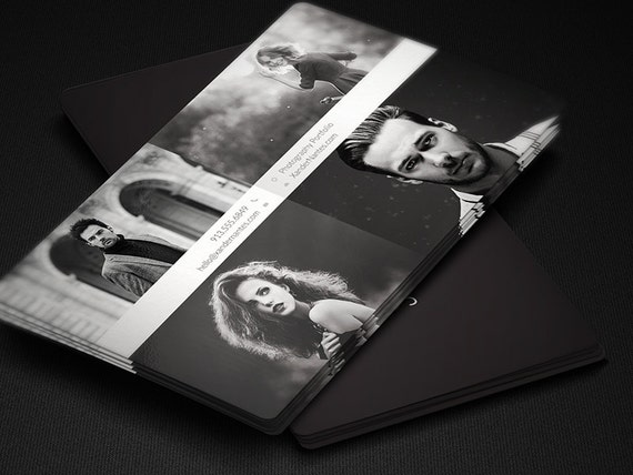 Photographe Carte De Visite QuadPix Template PSD Photoshop