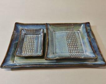 Piatti e ciotoline per sushi BLUE