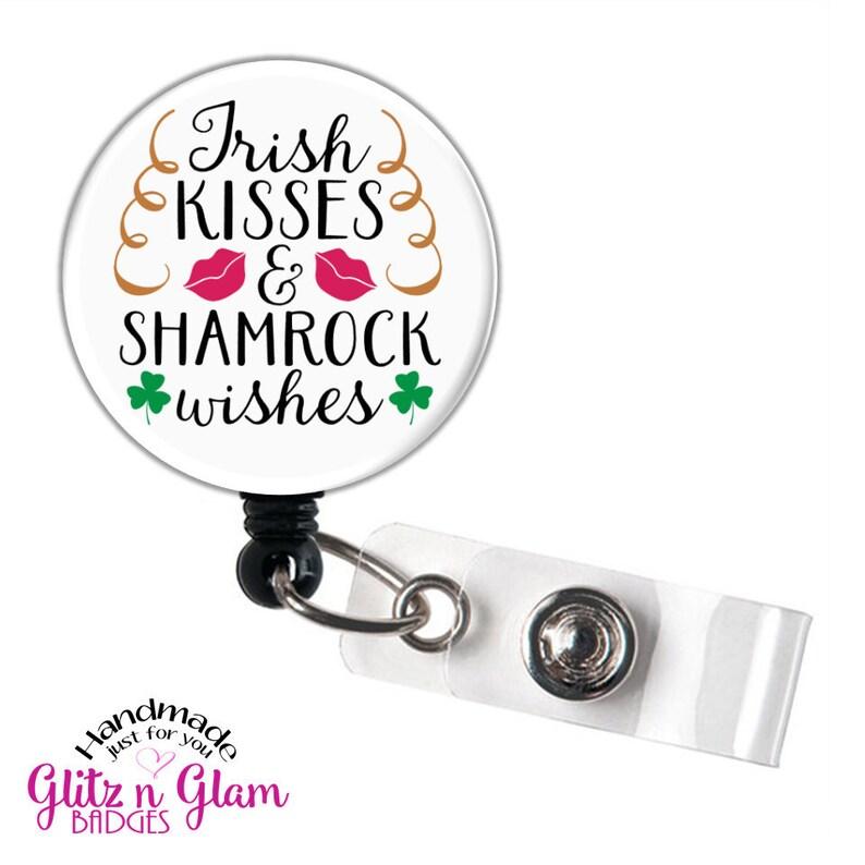 Patrick/'s Retractable Badge Reel St Lucky Clover Badge Reel GG5044 Saint Patrick/'s Day Badge Reel Holder Irish Retractable Badge Reel