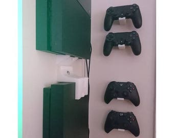 PS4 XBox One Wii U Controller Wall Mount | Custom Game Controller Holder Accessories |