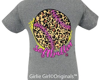 d06b5d698 Girlie Girl Originals Softballin' Graphite Short Sleeve T-Shirt-2059