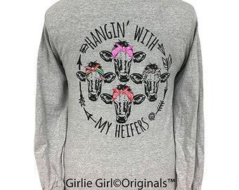 c049a49a058f3 Girlie Girl Originals My Heifers Long Sleeve T-Shirt