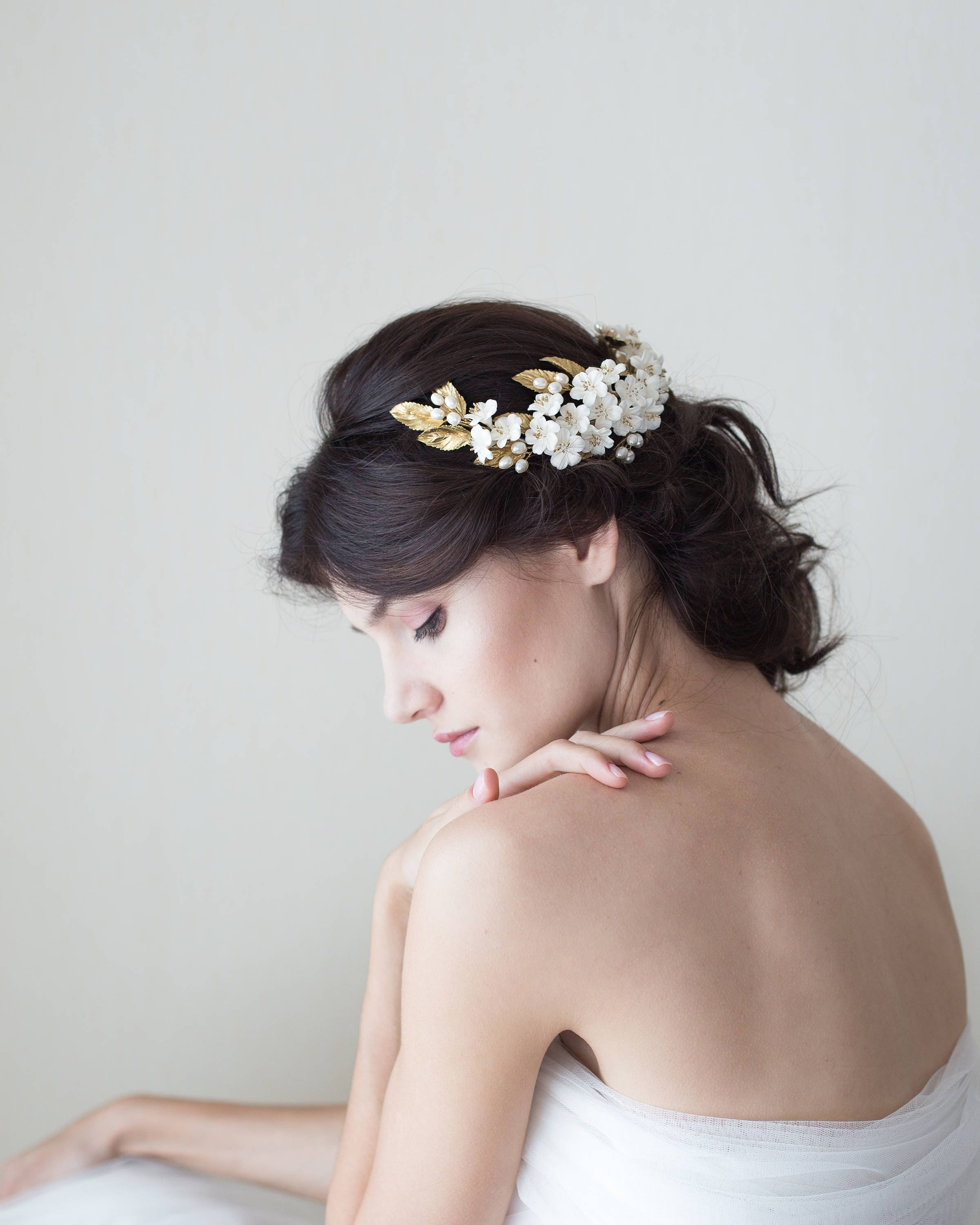 Headpieces For Weddings Australia: Cherry Blossom Headpiece. Bridal Headpiece. Bridal Crown
