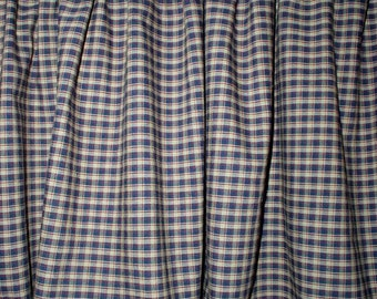 Ordinaire Americana Plaid Homespun Valance Country Primitive Curtains Tiers USA 100%  Cotton Kitchen Window Treatements FREE SHIP