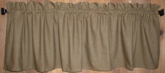 Navy Blue Buffalo Check Homespun Valances Tiers Runners Country Curtains Cabin Decor French Country Primitive Curtains FREE SHIP