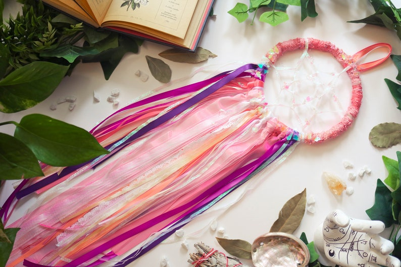 Pink Unicorn Dreamcatcher  Large // Dream Spell image 0