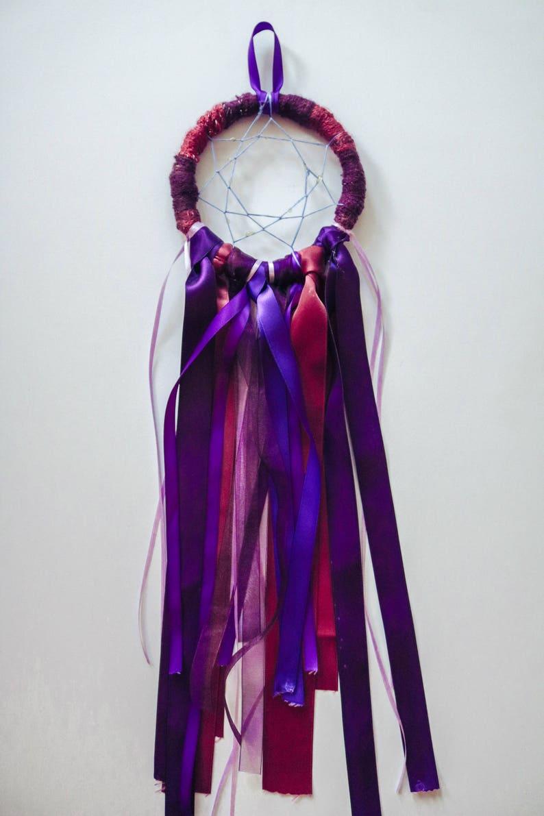 Red and Purple Dreamcatcher  Medium // Dream Magic image 0