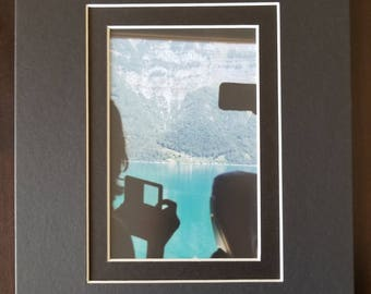 Mountain Lake photo, 8x10 black mat photo