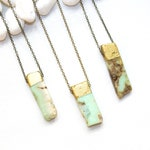 Gold Dipped Chrysoprase Necklace