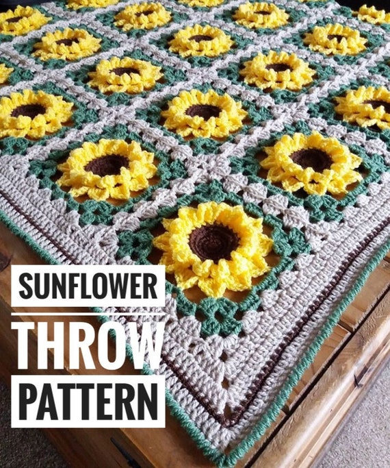 15 Free Crochet Sunflower Patterns | Crochet sunflower, Crochet ... | 683x570