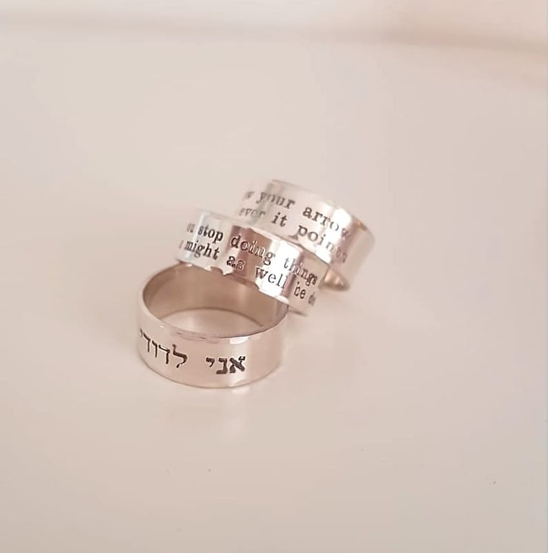 Personalized Sterling Silver Ring for Men Custom Engraved Mens Band Message ring Mens Rings Mens wide band Ring Personalized Rings