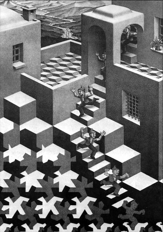 Escher # 26 cm 50x70 Poster Stampa Grafica Printing Digital Fine Art papiarte