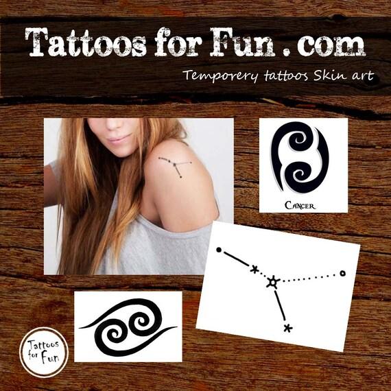Rak Zodiaku Tatuaże Zodiak Tymczasowy Tatuaże Rak Fake Tattoo Constellation Tattoo Rak Constellation Tattoo Rak Body Art
