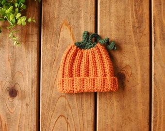 Crochet Baby Pumpkin Hat and Diaper SetBaby Shower GiftMade to Order