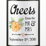 Wedding Wine Bottle Labels, Personalized Mini Wine Label, Custom, Engagement, Bridal Shower, Gift, Decor, Favors, Template, WATERPROOF