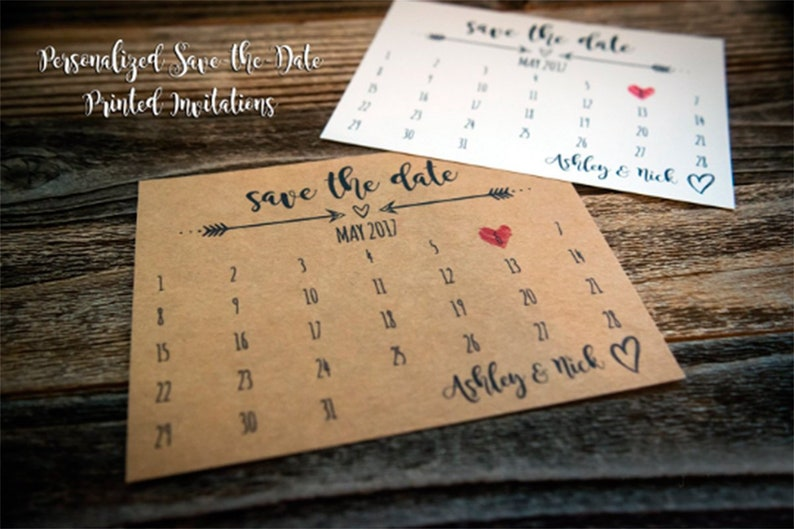 Rustic Save the Date Cards Simple Save-the-Date Wedding image 0