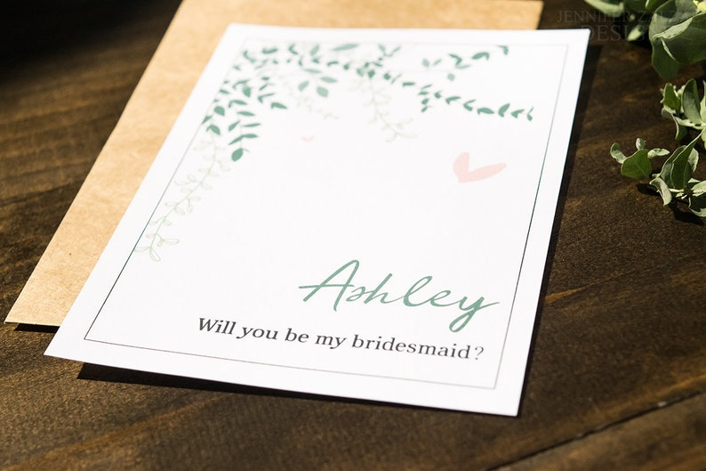 Bridesmaid Request Card Proposal. Custom Wedding Party image 0