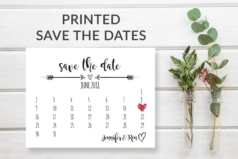 Rustic Save the Date Calendar Cards Save-the-Date Wedding image 0