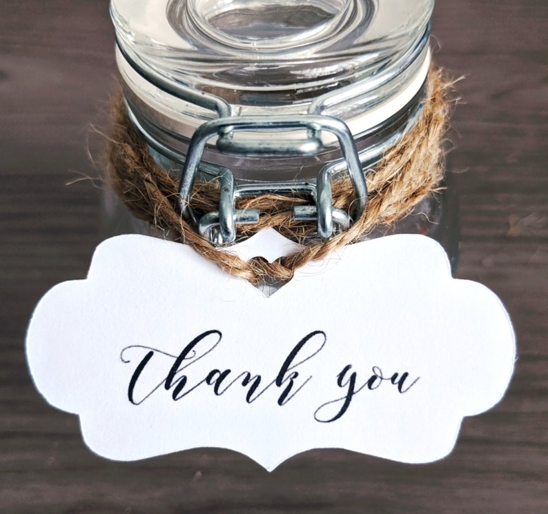 Thank You Favor Tag Wedding Bridal Shower Baby Shower image 0
