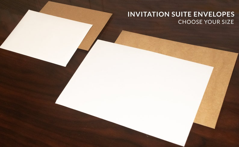 A7 & A1 Envelopes for Wedding Invitation Suite Premium White image 0